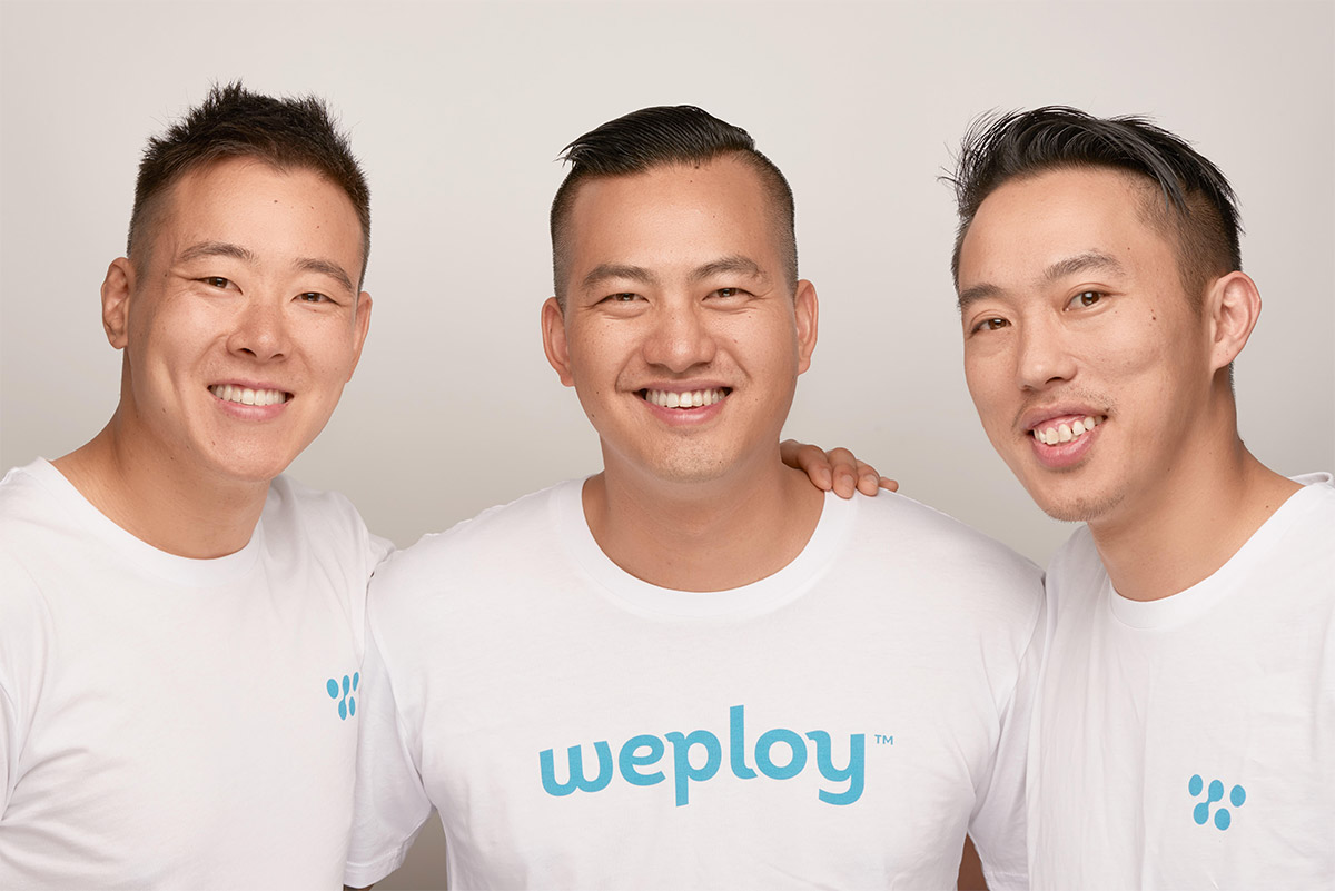 Weploy's co-founders happily smiling to the camera, with one goal: to create a fearless and empowered future of work