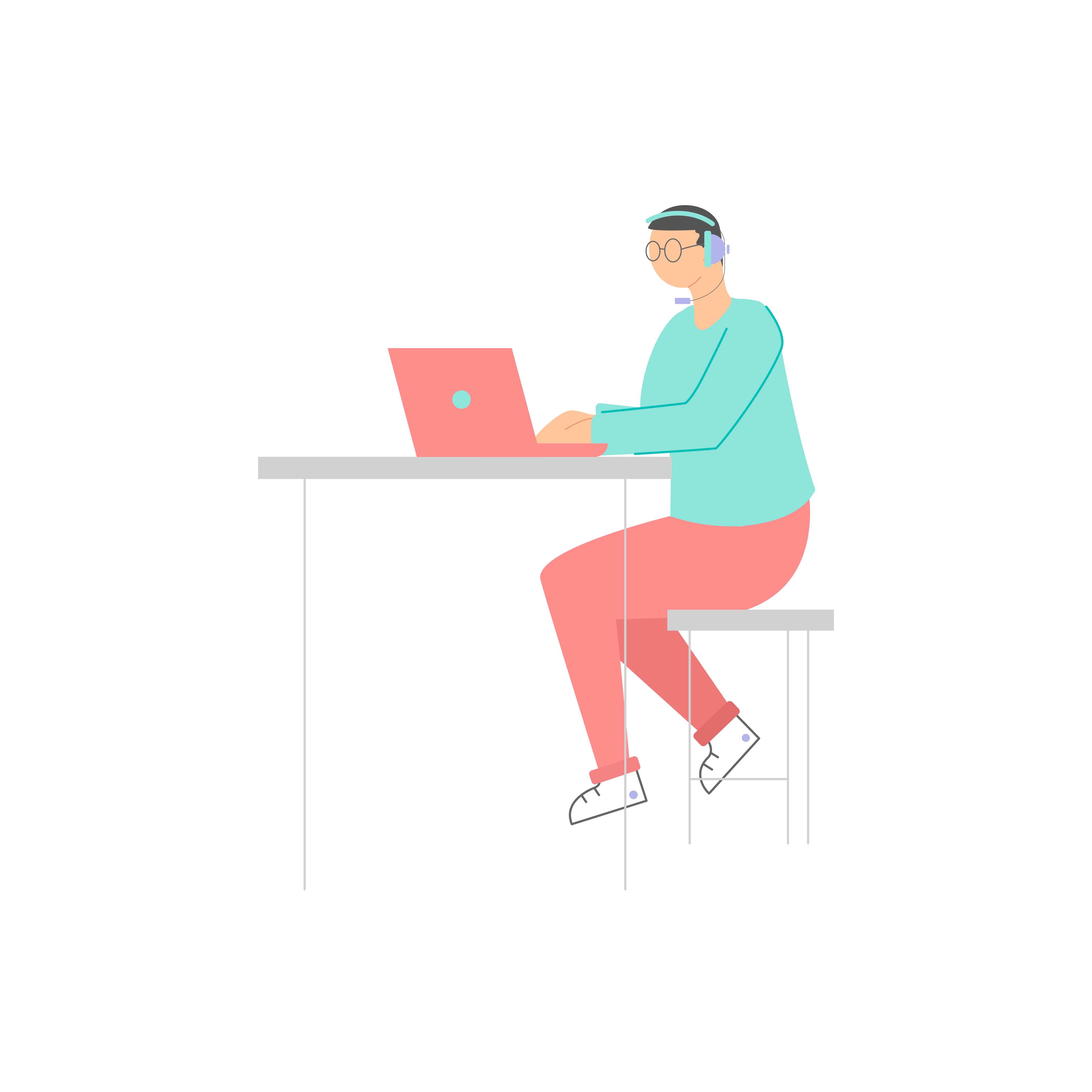 Male-2 Working on Laptop - Weploy Illustrations 2020