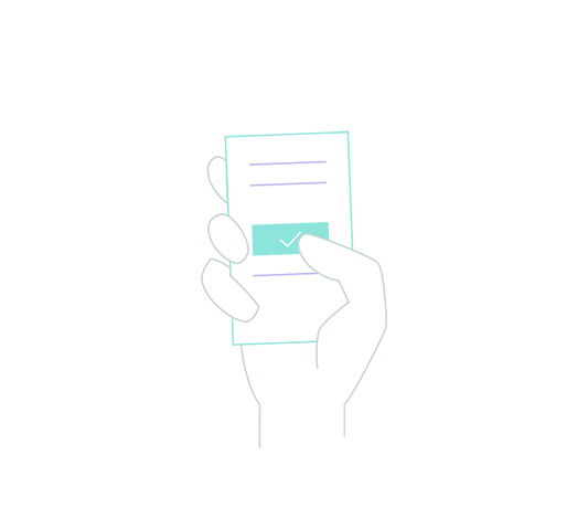 Illustration of hand holding a phone