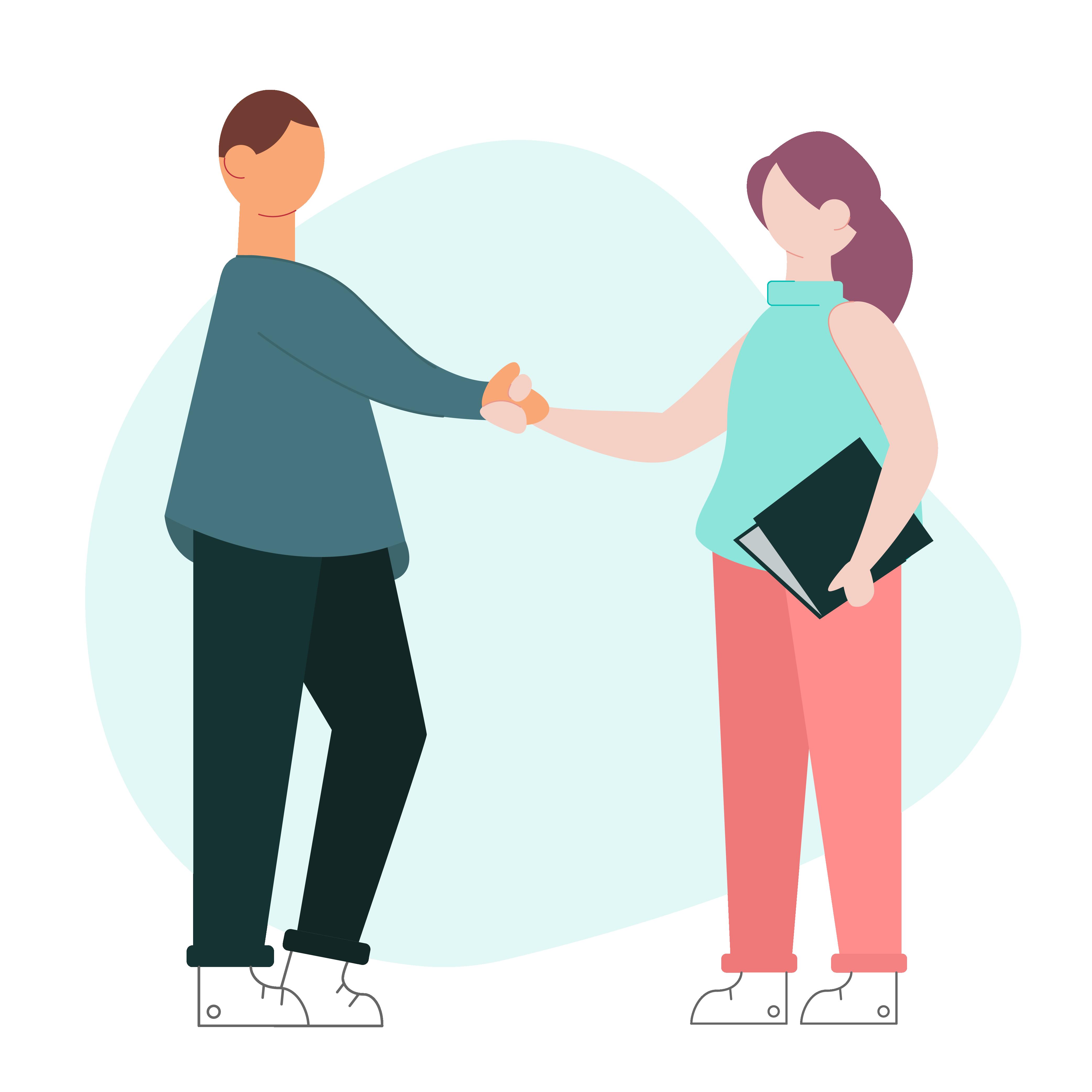 Handshake - Weploy Illustrations 2020