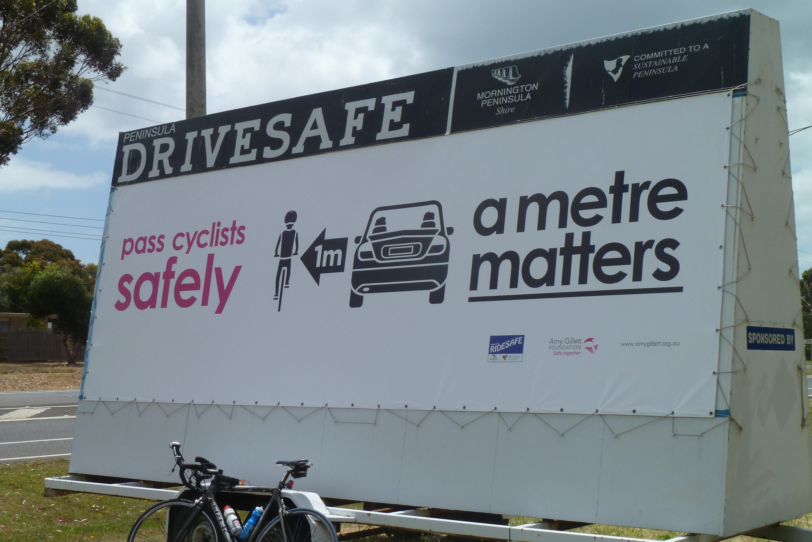 Cyclist Signage Billboard